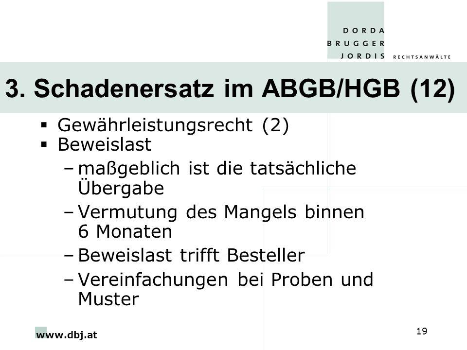 3. Schadenersatz im ABGB/HGB (12)