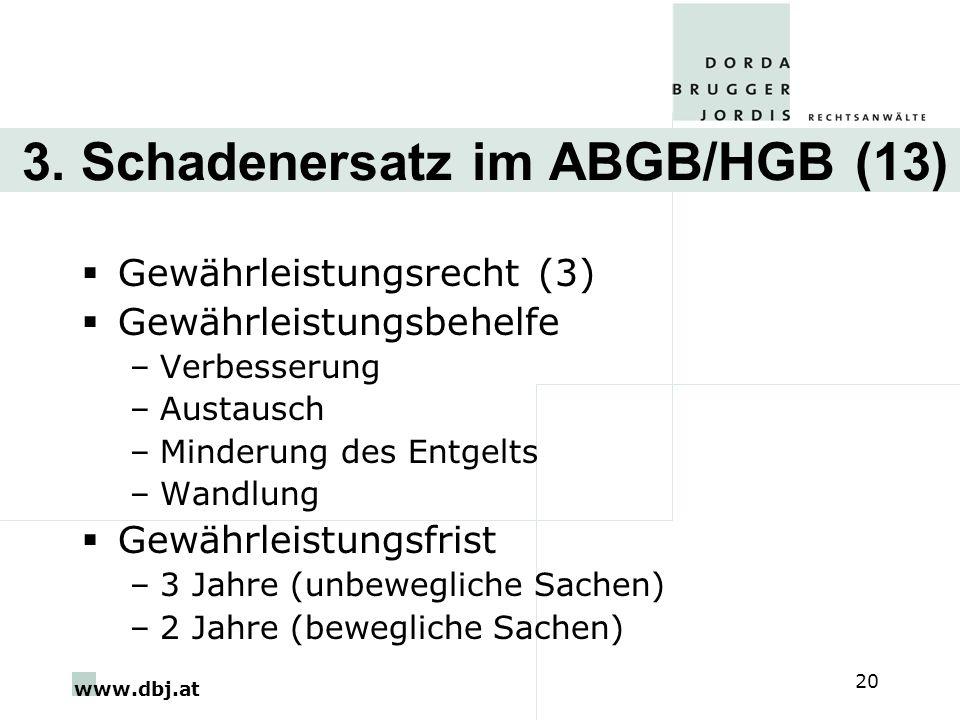 3. Schadenersatz im ABGB/HGB (13)