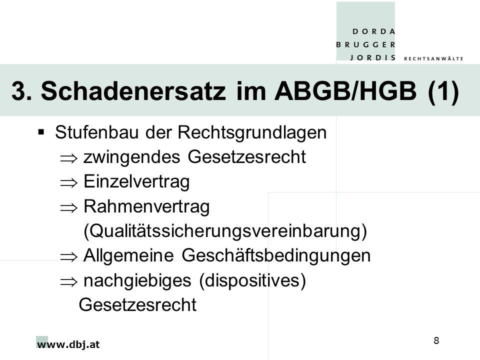 3. Schadenersatz im ABGB/HGB (1)