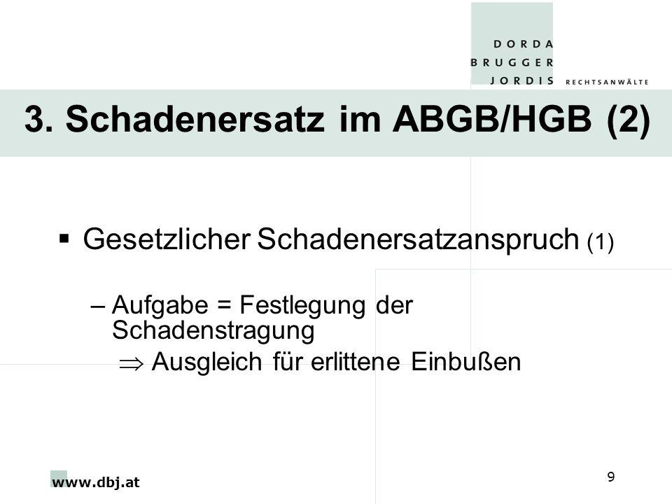 3. Schadenersatz im ABGB/HGB (2)