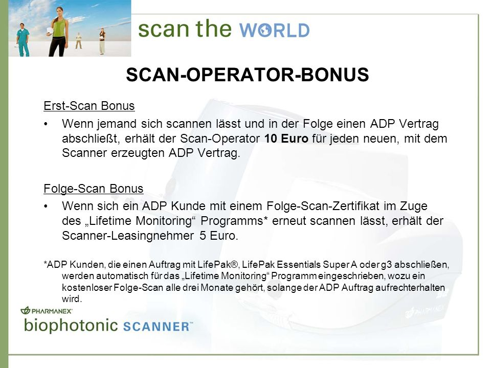 SCAN-OPERATOR-BONUS Erst-Scan Bonus