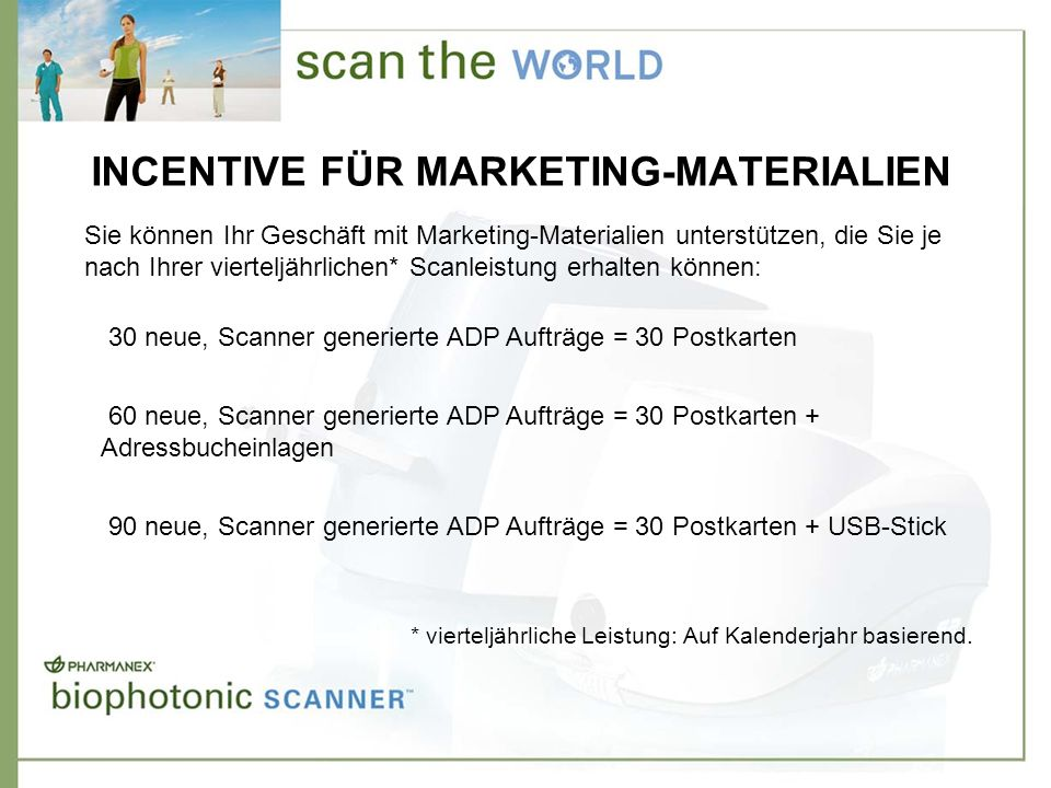 INCENTIVE FÜR MARKETING-MATERIALIEN