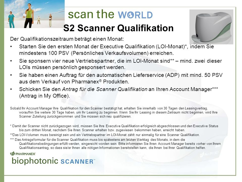 S2 Scanner Qualifikation