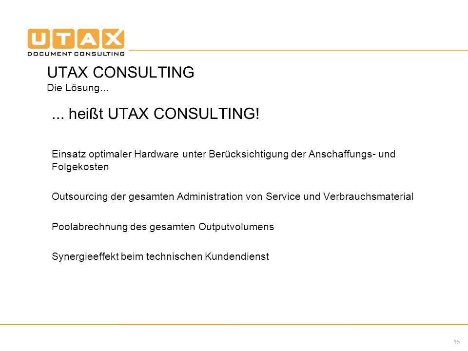 UTAX CONSULTING Die Lösung...