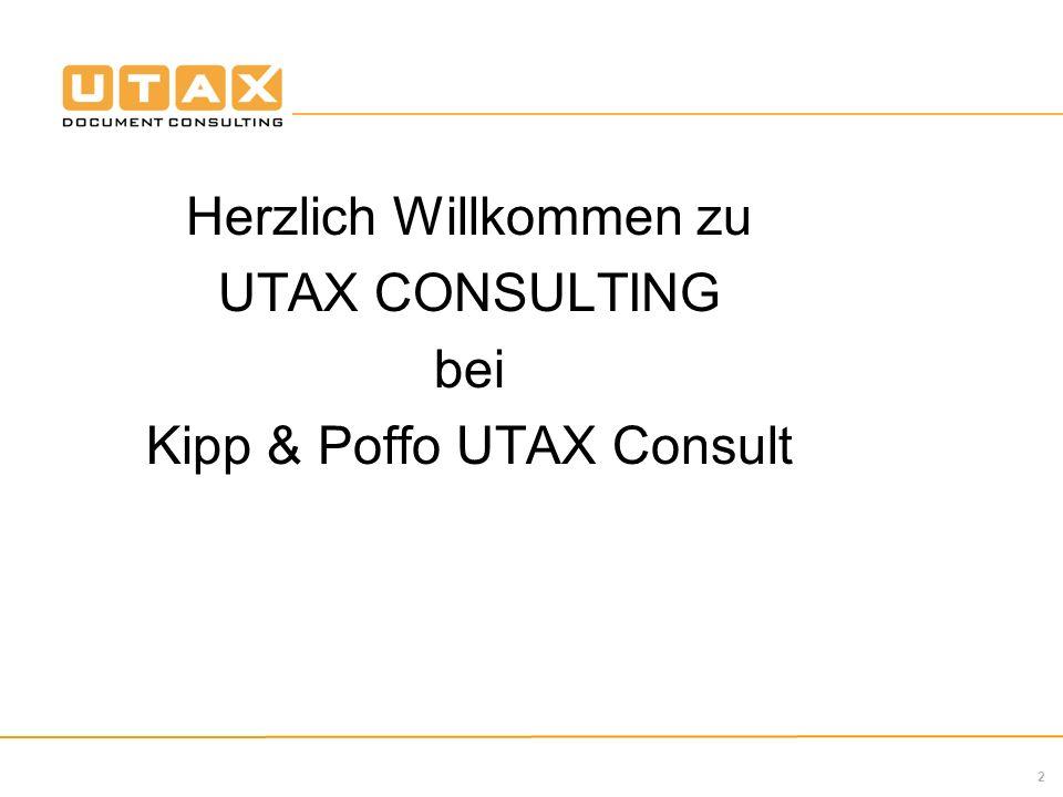 Herzlich Willkommen zu UTAX CONSULTING bei Kipp & Poffo UTAX Consult
