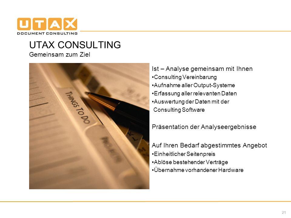 UTAX CONSULTING Gemeinsam zum Ziel