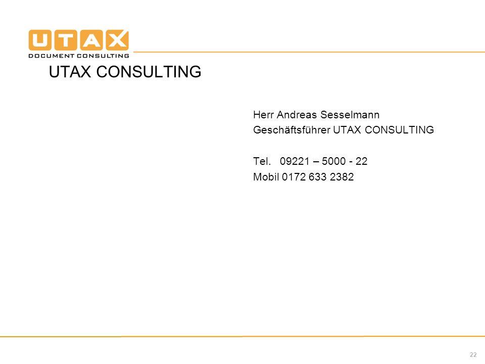 UTAX CONSULTING Herr Andreas Sesselmann