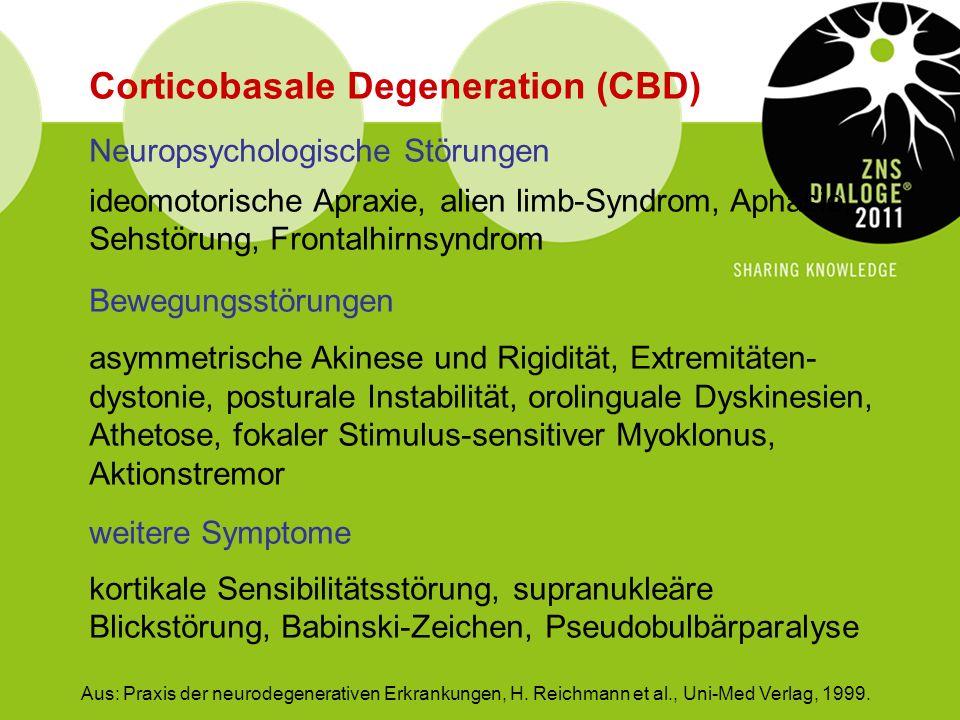 Corticobasale Degeneration (CBD)