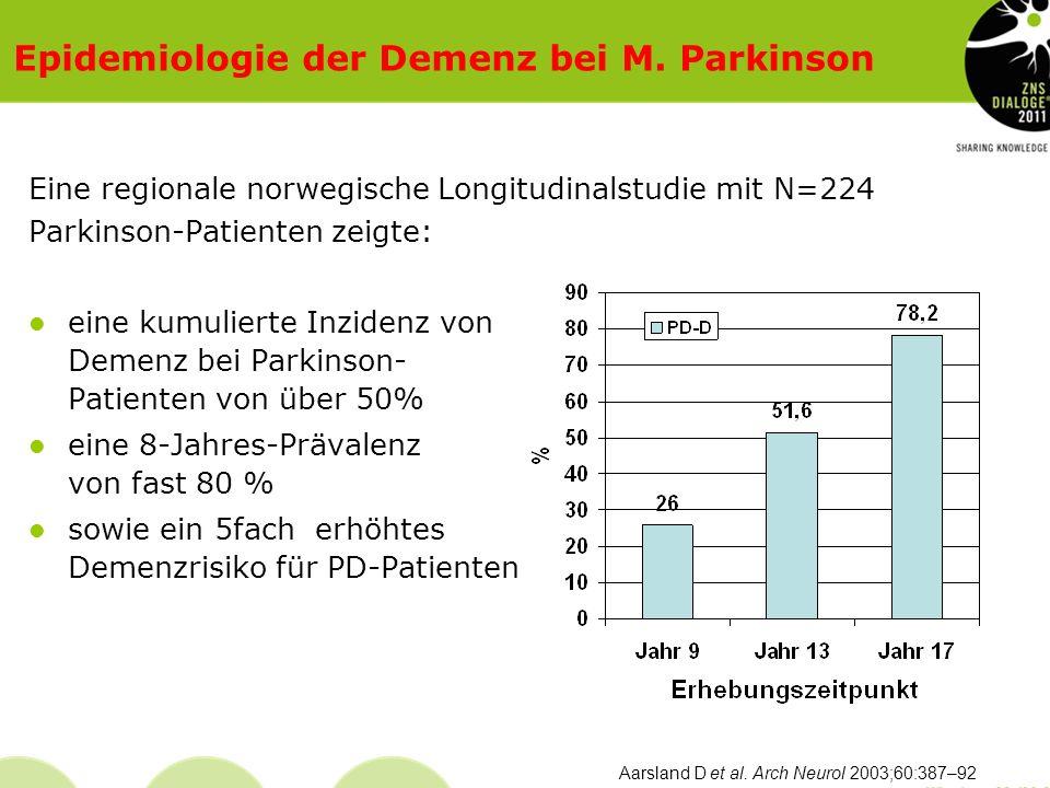 Epidemiologie der Demenz bei M. Parkinson