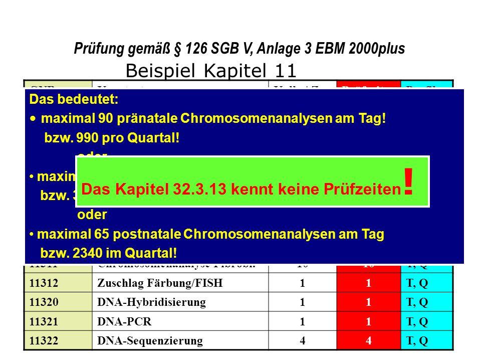 Prüfung gemäß § 126 SGB V, Anlage 3 EBM 2000plus