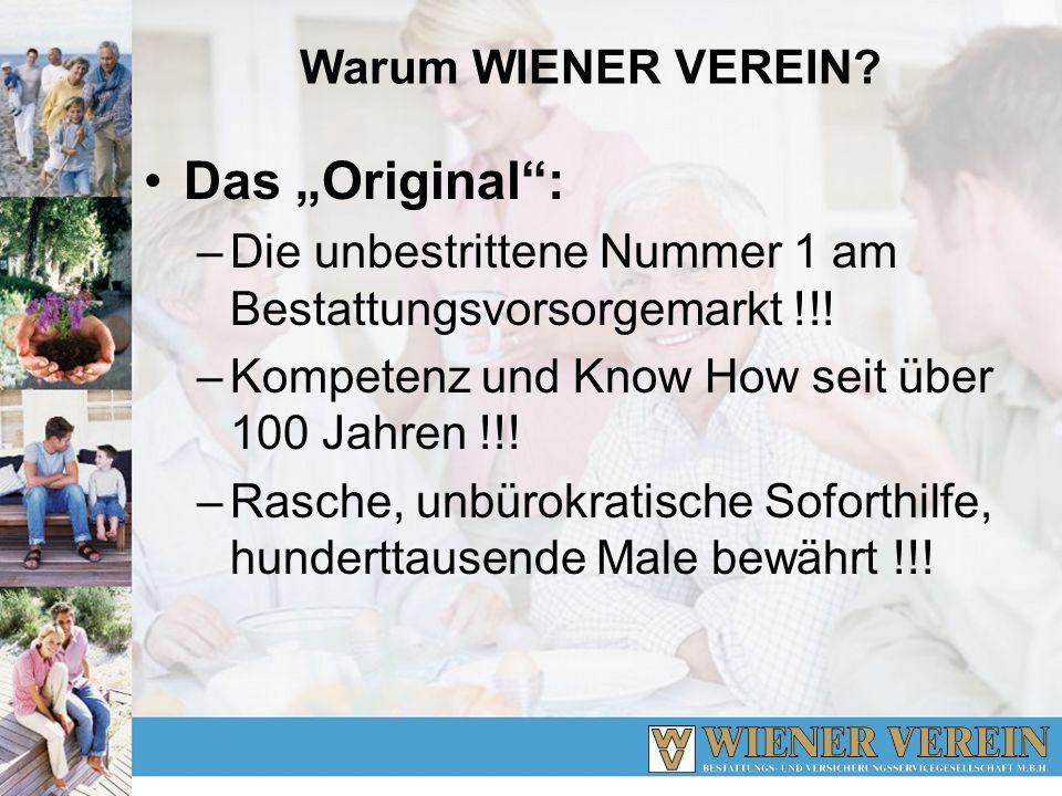"""Das """"Original : Warum WIENER VEREIN"""