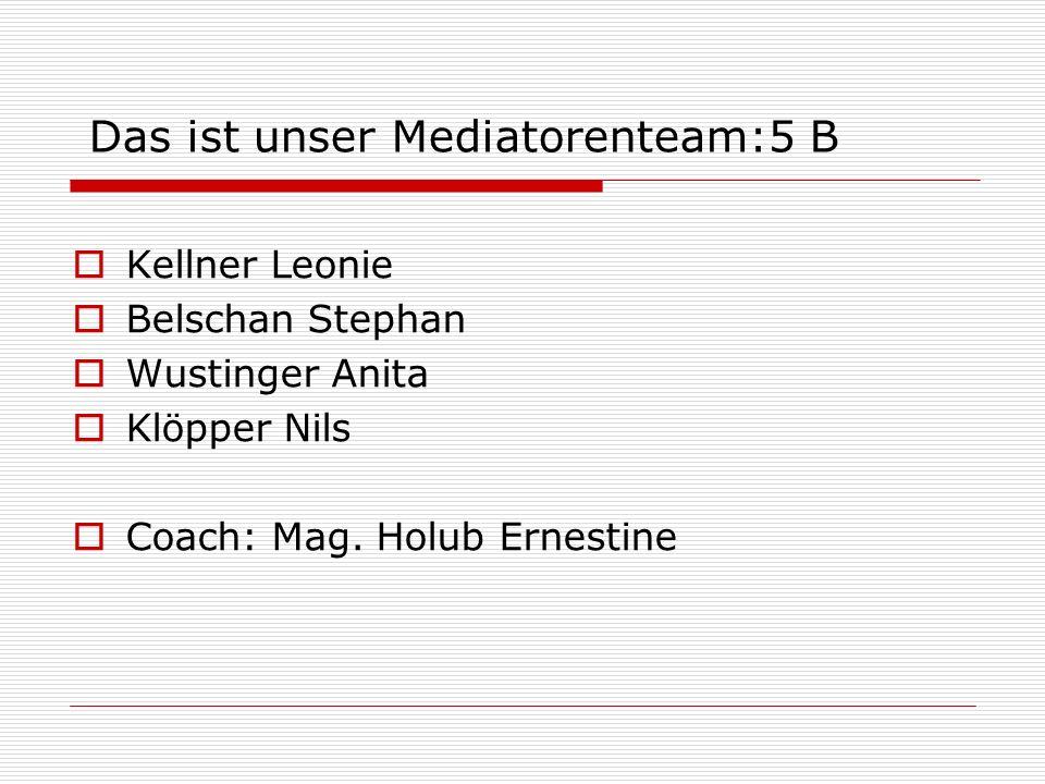 Das ist unser Mediatorenteam:5 B