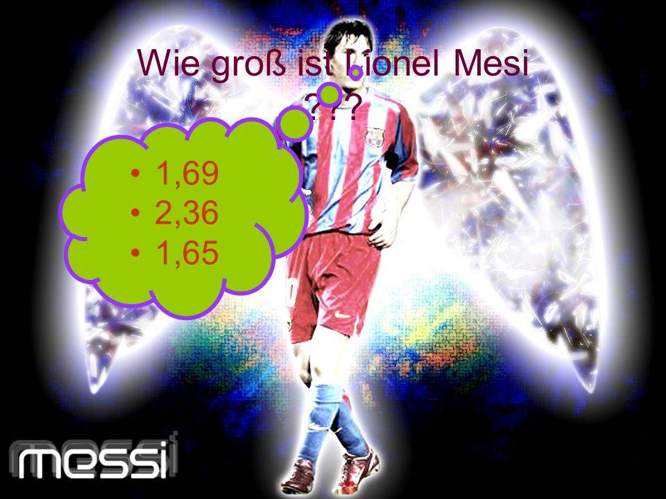 Wie groß ist Lionel Mesi
