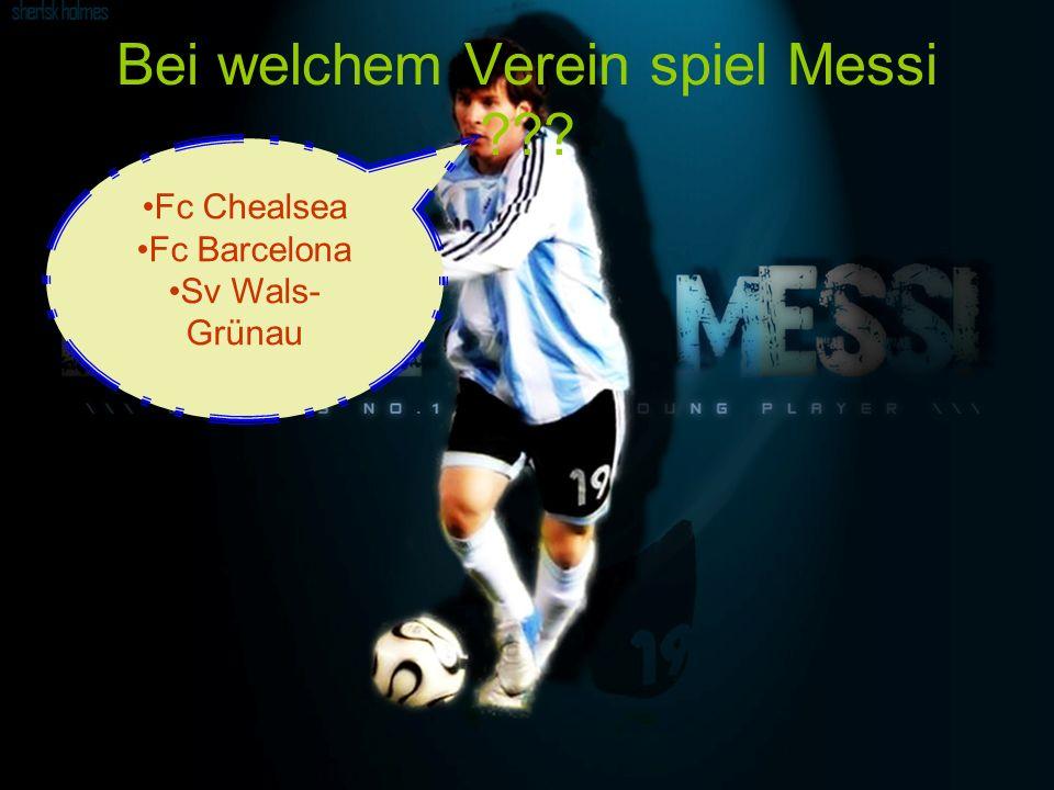 Bei welchem Verein spiel Messi