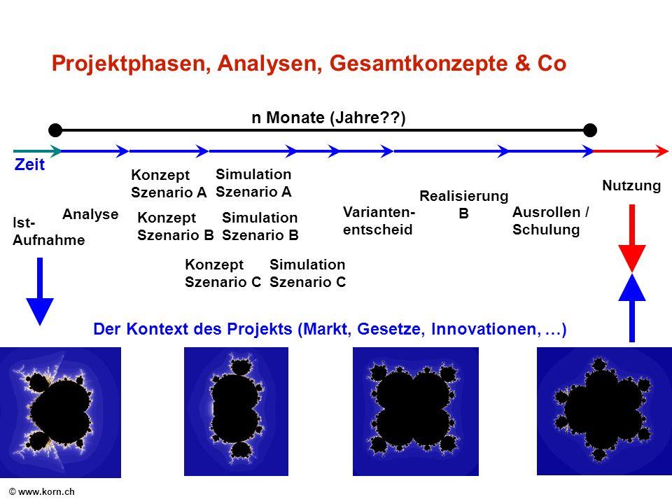 Projektphasen, Analysen, Gesamtkonzepte & Co