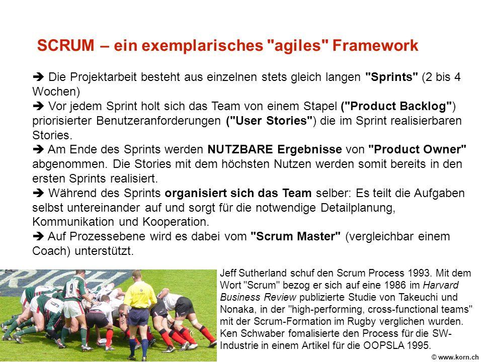 SCRUM – ein exemplarisches agiles Framework