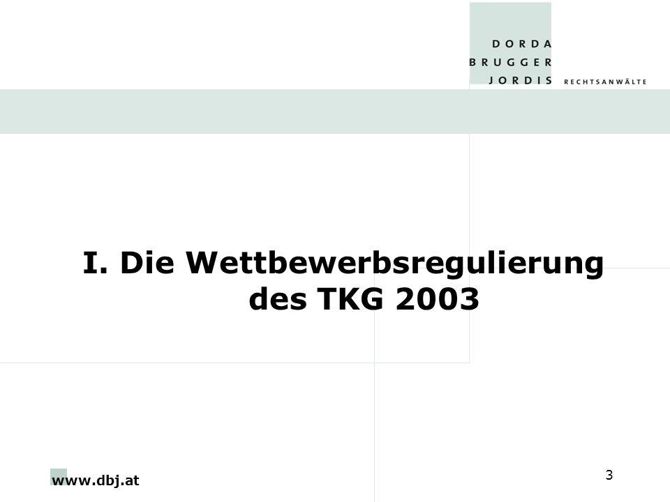 I. Die Wettbewerbsregulierung des TKG 2003