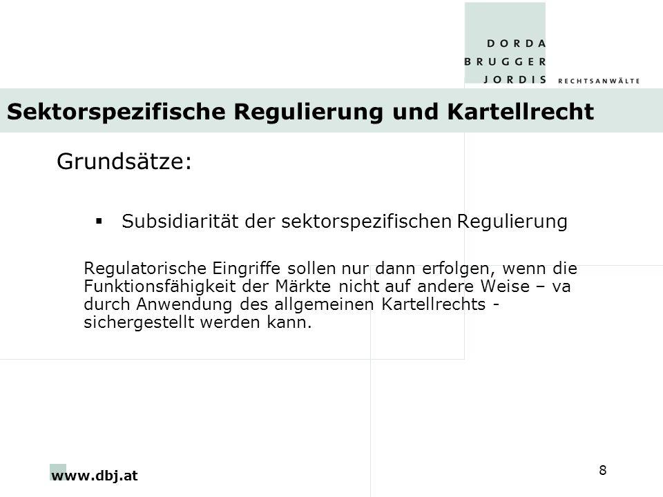 Sektorspezifische Regulierung und Kartellrecht