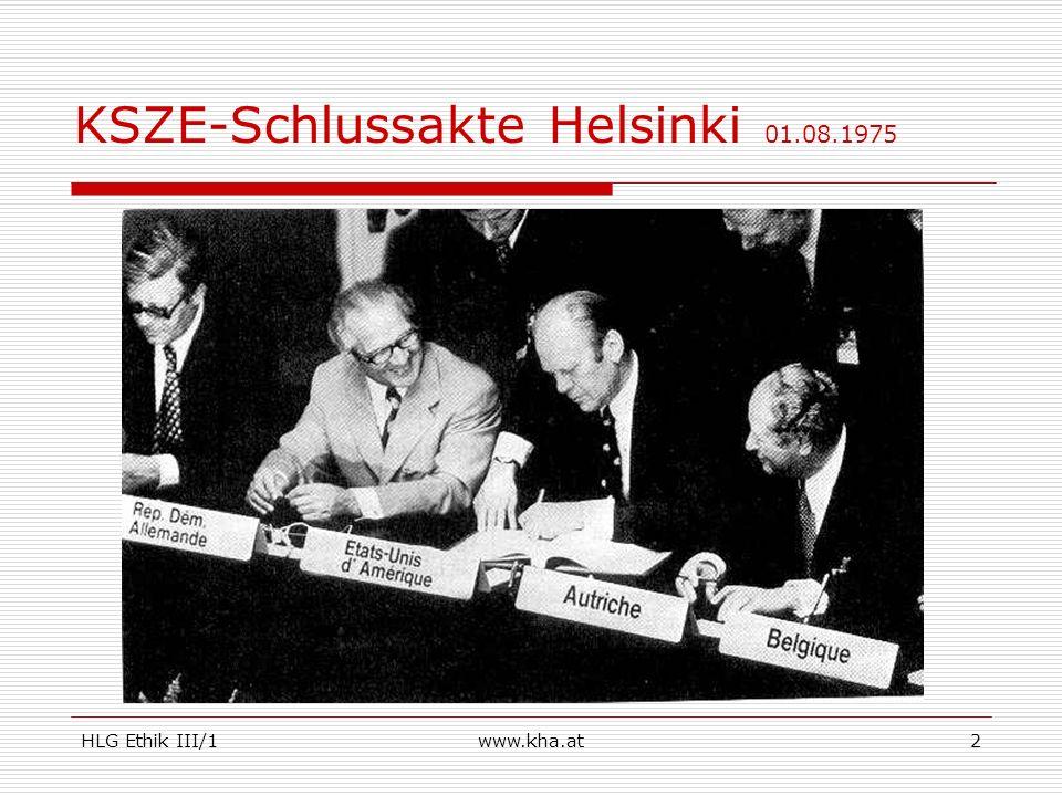 KSZE-Schlussakte Helsinki 01.08.1975