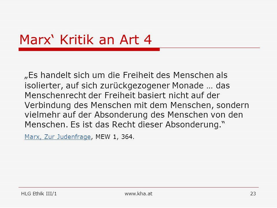 Marx' Kritik an Art 4