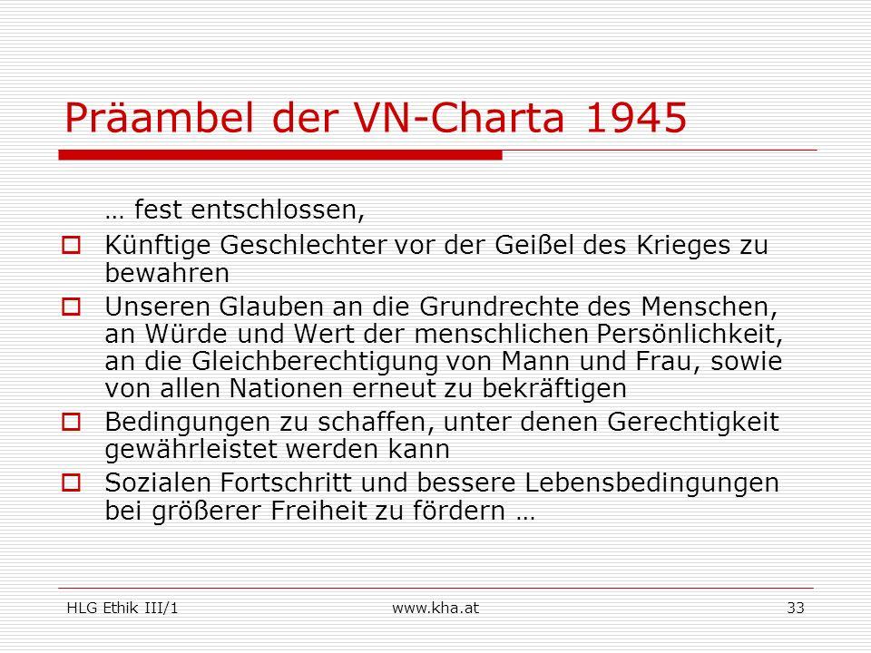 Präambel der VN-Charta 1945