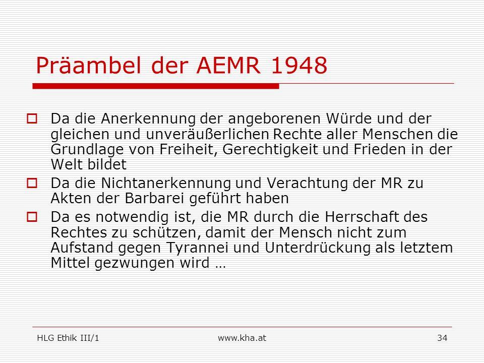 Präambel der AEMR 1948