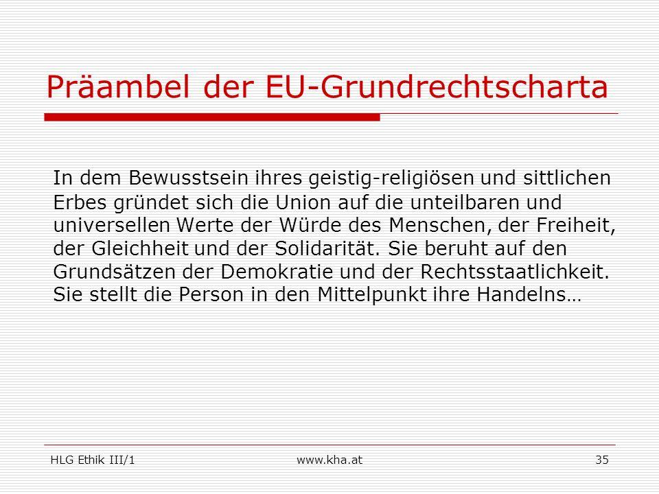 Präambel der EU-Grundrechtscharta