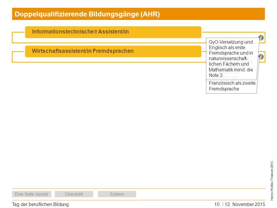 Doppelqualifizierende Bildungsgänge (AHR)