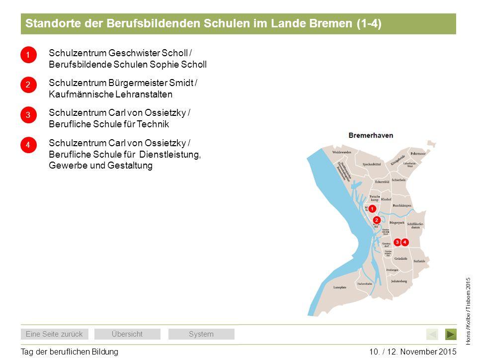 Standorte der Berufsbildenden Schulen im Lande Bremen (1-4)