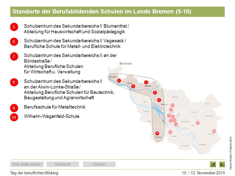 Standorte der Berufsbildenden Schulen im Lande Bremen (5-10)