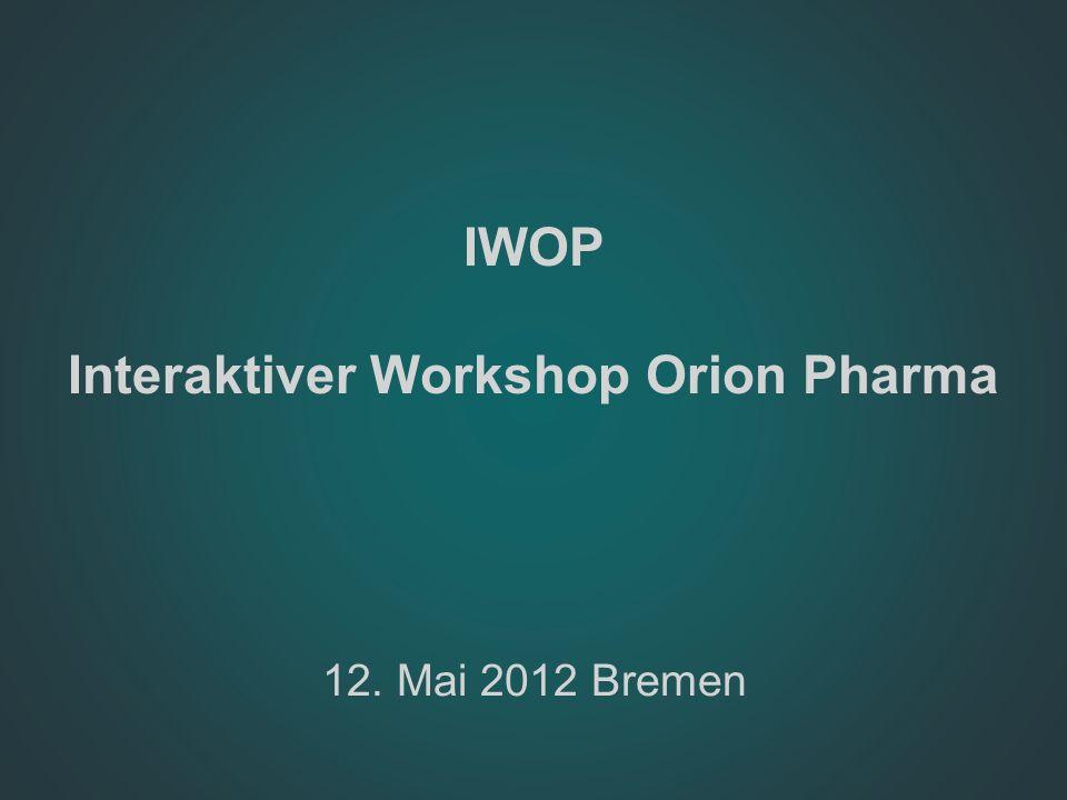 IWOP Interaktiver Workshop Orion Pharma