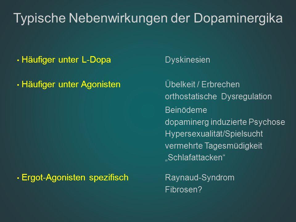 Typische Nebenwirkungen der Dopaminergika