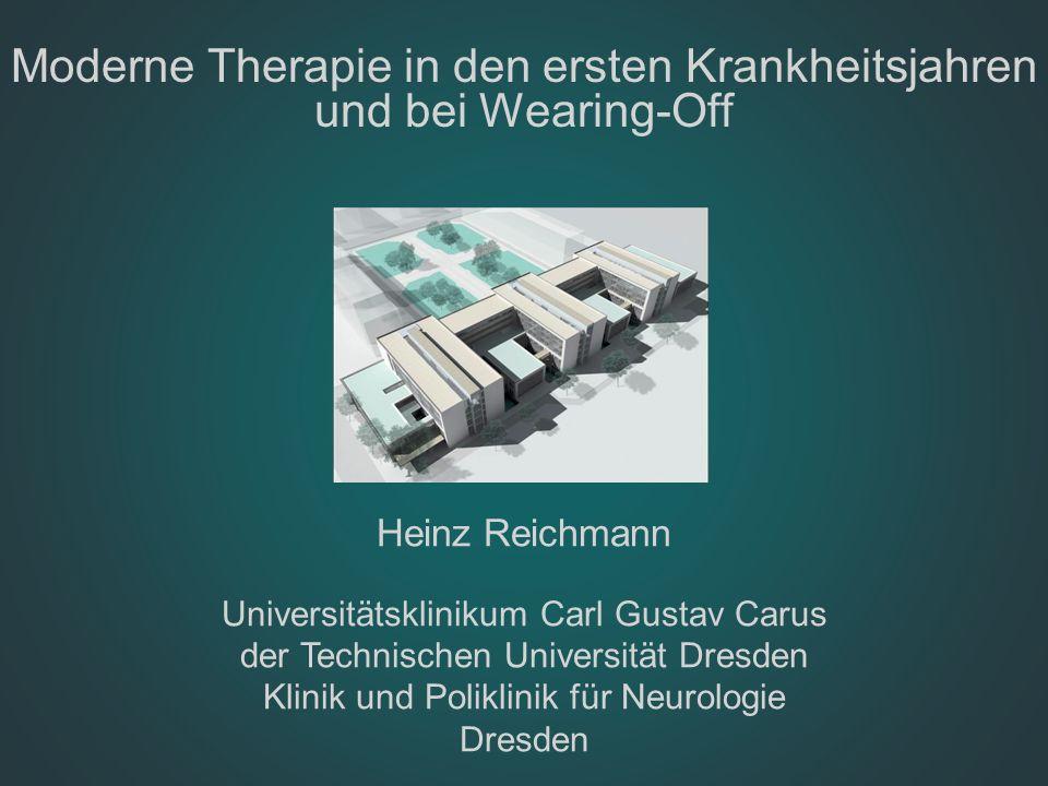 Moderne Therapie in den ersten Krankheitsjahren und bei Wearing-Off