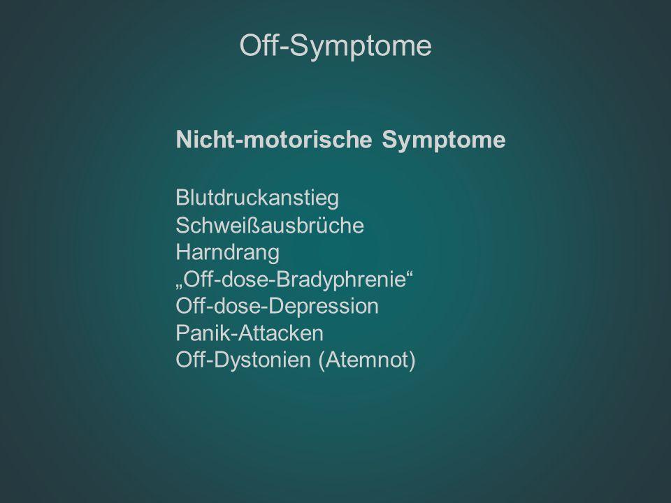Off-Symptome Blutdruckanstieg Nicht-motorische Symptome