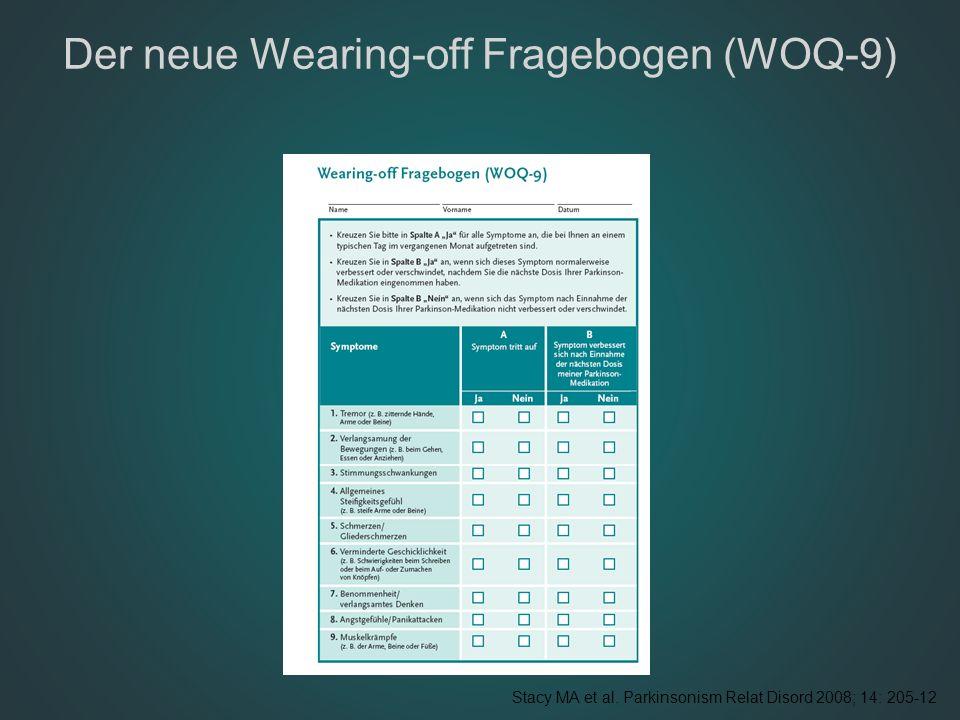 Der neue Wearing-off Fragebogen (WOQ-9)