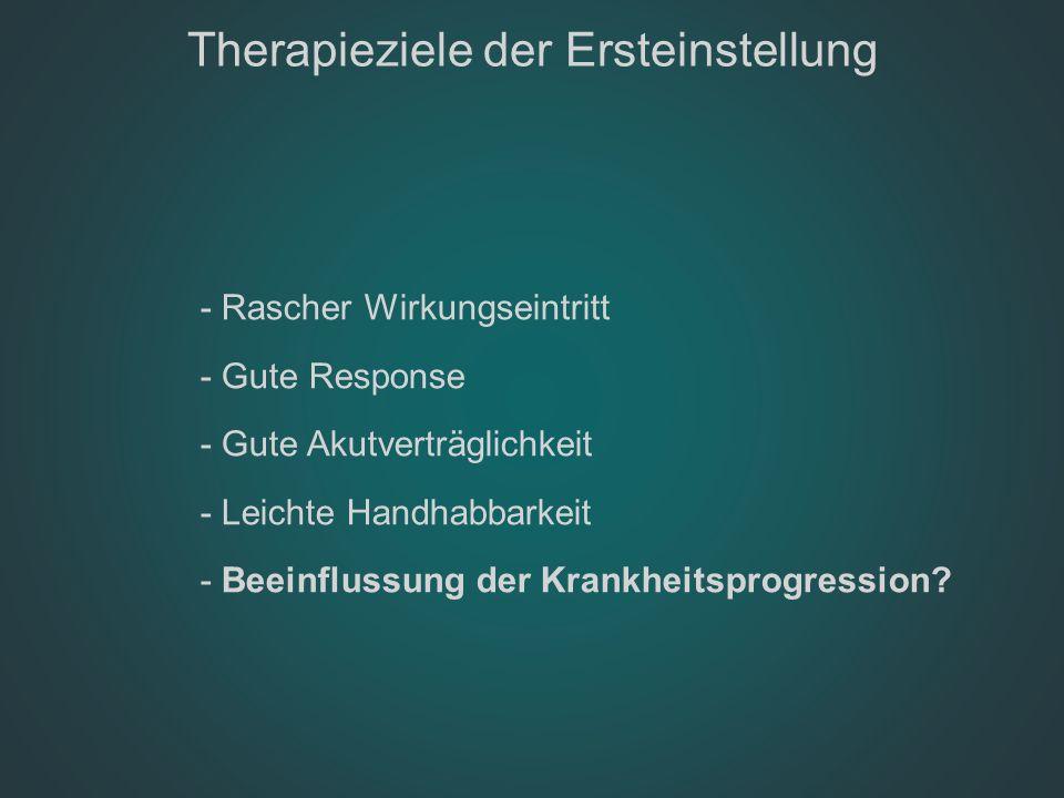 Therapieziele der Ersteinstellung