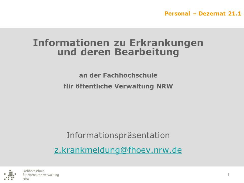 Informationen zu Erkrankungen und deren Bearbeitung