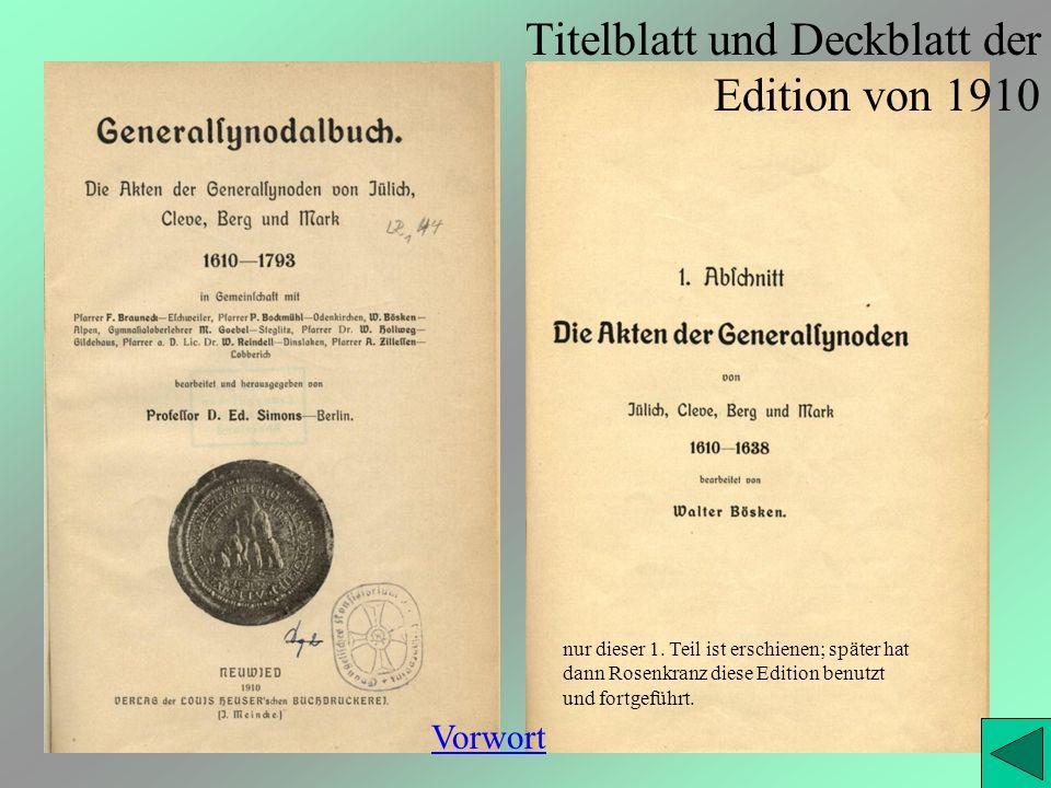 Titelblatt und Deckblatt der Edition von 1910