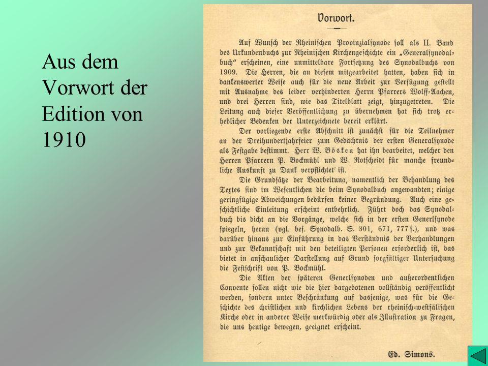 Aus dem Vorwort der Edition von 1910
