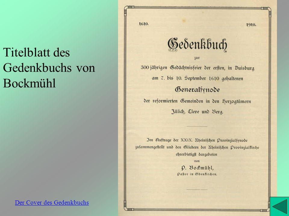 Titelblatt des Gedenkbuchs von Bockmühl