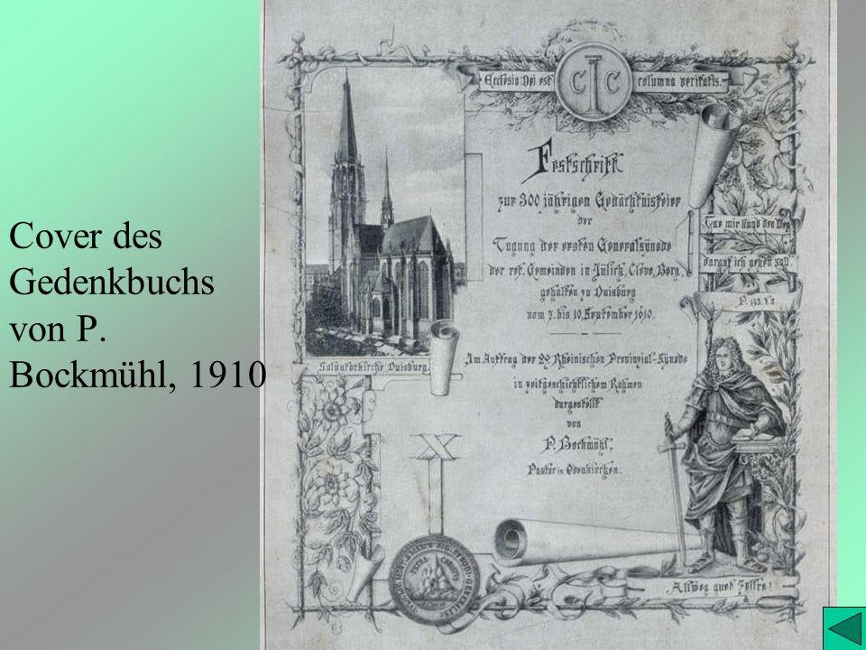 Cover des Gedenkbuchs von P. Bockmühl, 1910