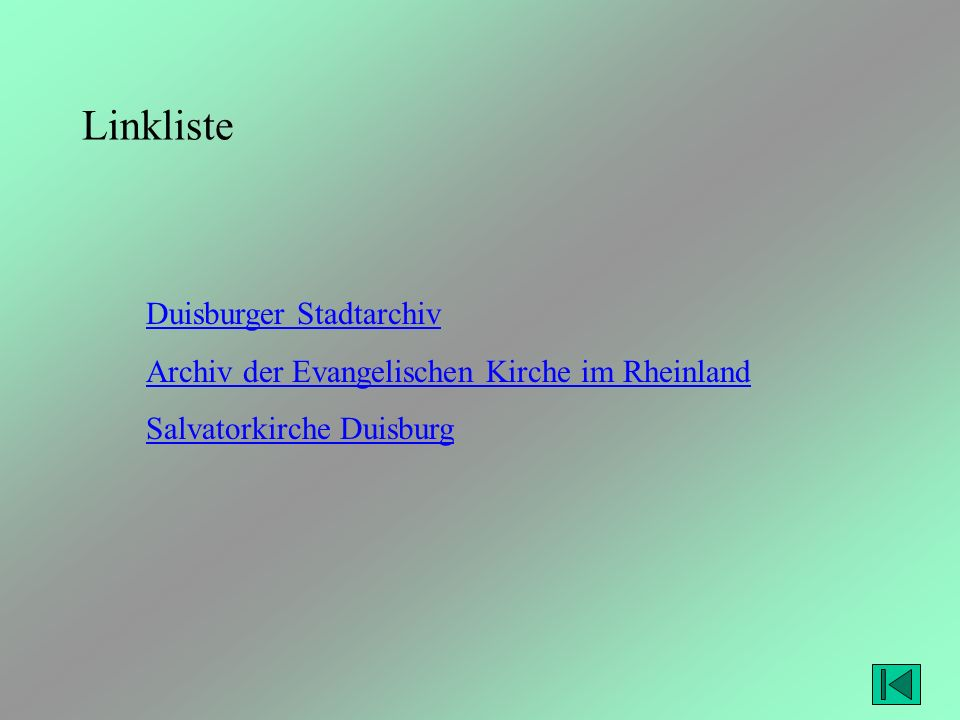 Linkliste Duisburger Stadtarchiv