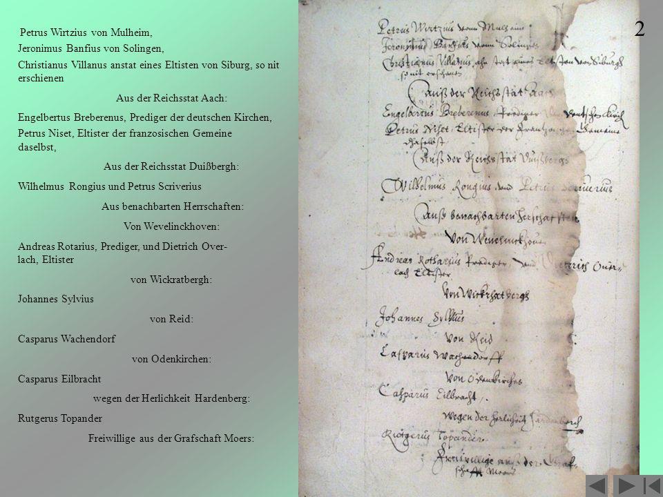 2 Jeronimus Banfius von Solingen,