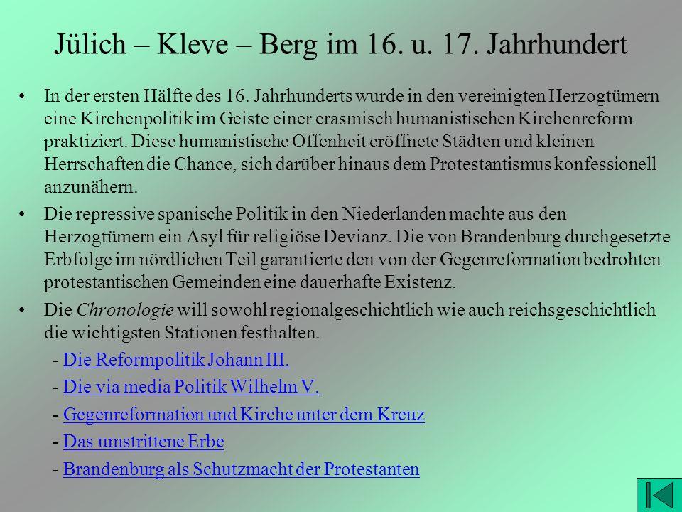 Jülich – Kleve – Berg im 16. u. 17. Jahrhundert