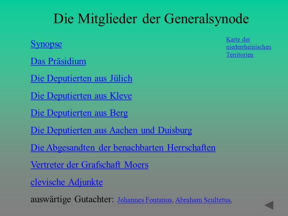 Die Mitglieder der Generalsynode