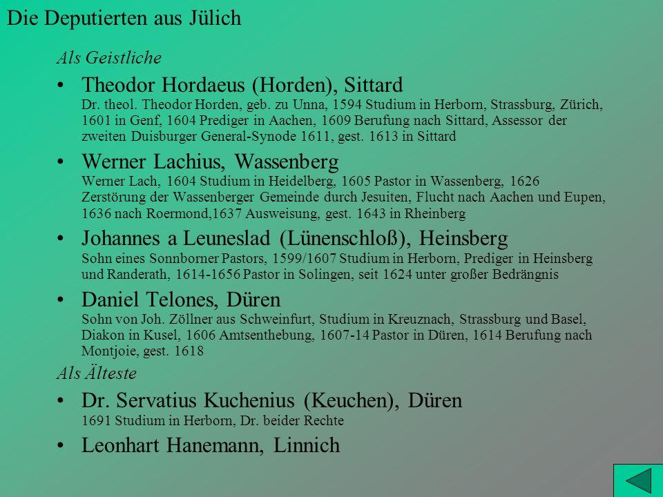 Die Deputierten aus Jülich
