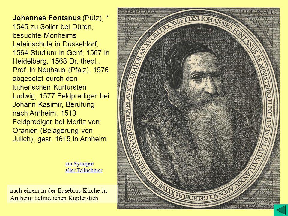 Johannes Fontanus (Pütz),