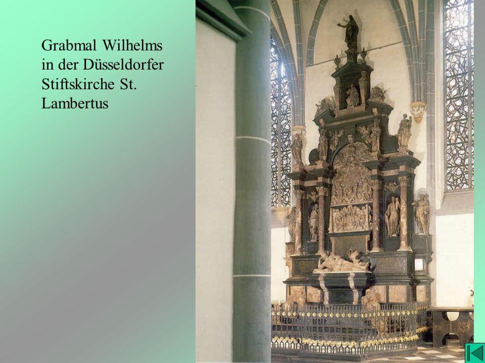 Grabmal Wilhelms in der Düsseldorfer Stiftskirche St. Lambertus