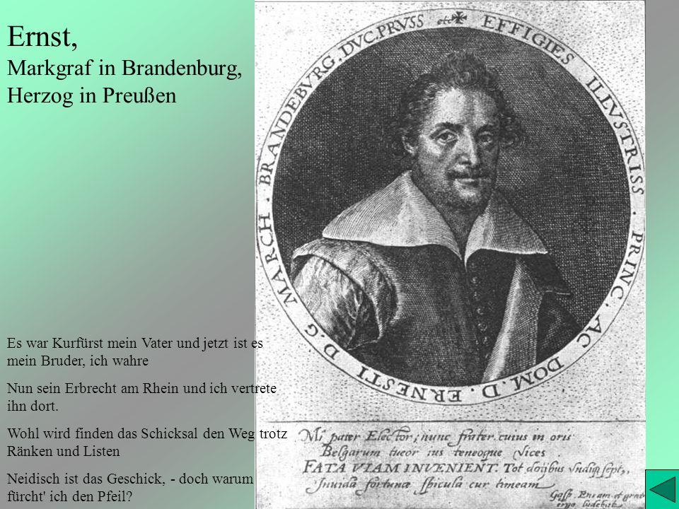 Ernst, Markgraf in Brandenburg, Herzog in Preußen