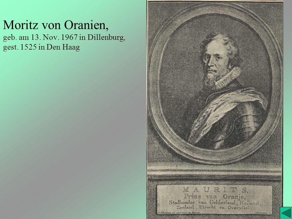 Moritz von Oranien, geb. am 13. Nov. 1967 in Dillenburg, gest